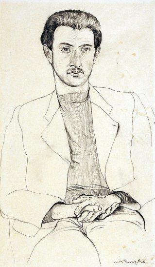 Robert MacBryde: Portrait of Robert Colquhoun, 1939   Scottish National Portrait Gallery, Edinburgh