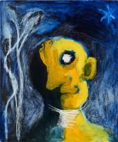 Yellow Head, Night, 1989, oil on board, 65 x 54 cm