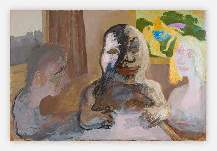 Sequence No.154, Crouching Man, c.1990, acrylic on paper, 67.5 x 100 cm