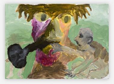 Sequence No.29, Liquorice Pipe Man, c.1990, acrylic on board, 39.4 x 54 cm