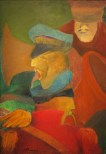 Untitled (Bandwallas), 2015. Oil on canvas, 60.9 x 38.1 cm. (24 x 15 in.)
