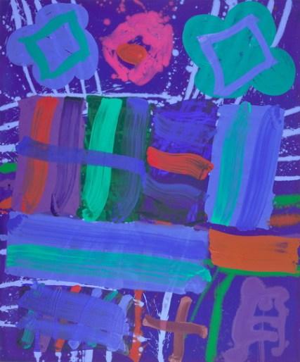 Blue Lion I, 2008, acrylic on canvas, 72 x 60 in / 183 x 152.4 cm
