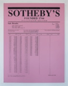 Charles Lutz, Price list (Warhol collection pink), 2010, acrylic & enamel on canvas, 122 x 91.5 cm (48 x 36 in.)