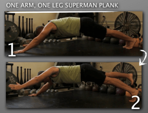 One Arm One Leg Superman Plank 300x230 9 Plank Progressions Everyone Should Be Using