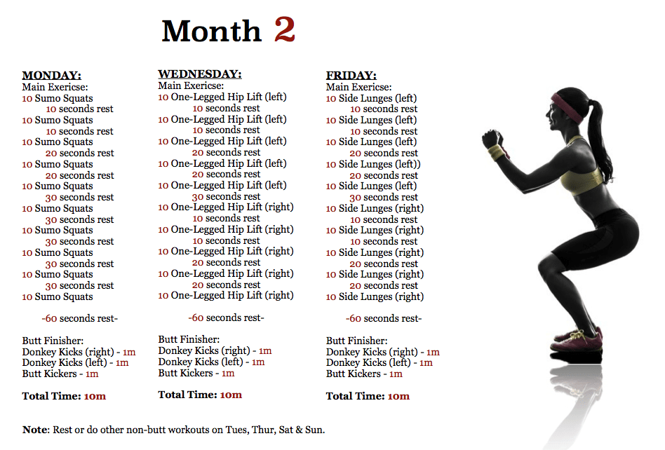 The 3 Month Butt Workout Plan