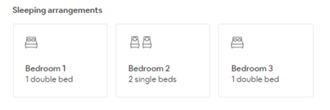 Sleeping arrangements when booking with AirBnB