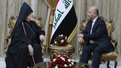 Photo of رئيس الجمهورية يستقبل رئيس طائفة الأرمن الارثذوكس في العراق
