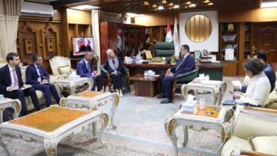 Photo of محافظ كركوك يلتقي الممثل الخاص للأمين العام للأمم المتحدة لمساعدة العراق  جينين هينيس