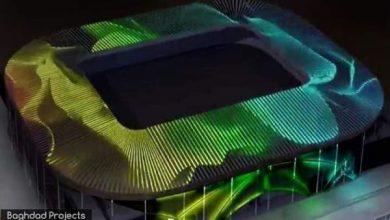 Photo of بالصور.. التصميم الأولي للإنارة الخارجية لملعب الشهداء الدولي 30الف متفرج في بغداد