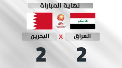 Photo of الاولمبي العراقي يتعادل مع نظيره البحريني في البطولة الاسيوية