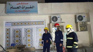 Photo of إندلاع حريق في مستشفى مخصص لعزل مصابي كورونا في بغداد.. صور