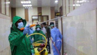 Photo of ضمن حملة وعي.. طبابة الحشد تعفر مبنى وزارة الصحة للوقاية من كورونا