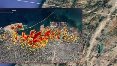 Photo of ناسا تنشر صورة من الفضاء تظهر حجم الدمار الذي خلفته كارثة بيروت