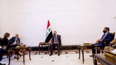 Photo of رئيس مجلس الوزراء السيد مصطفى الكاظمي يستقبل وزيرة الجيوش الفرنسية، فلورانس بارل