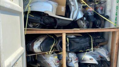 Photo of هيأة المنافذ الحدودية : ضبط حاويتين محملتين بدراجات معدة للتهريب في منفذ ميناء أم قصر الشمالي