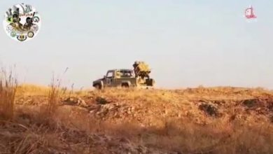 Photo of بالفيديو.. الحشد الشعبي يدكون مواقعا لداعش شمال سامراء
