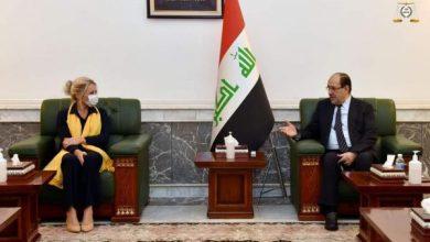 Photo of رئيس ائتلاف دولة القانون يستقبل ممثلة الامين العام للامم المتحدة في العراق
