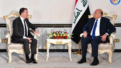 Photo of وزير الخارجيّة يستقبل فاتح يلدز سفير تركيا لمُناسبة انتهاء مهامّ عمله ببغداد