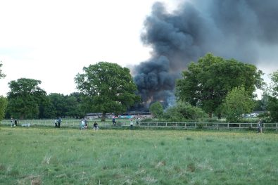 Large Barn Fire in Tongham
