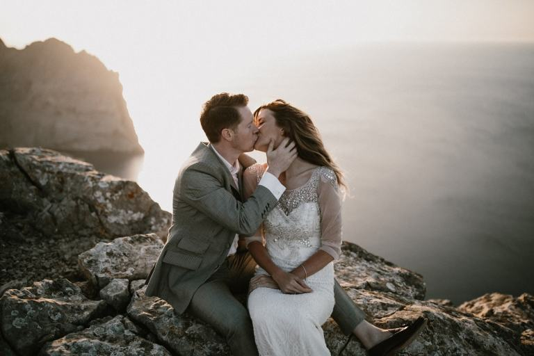 Mallorca wedding at sunset