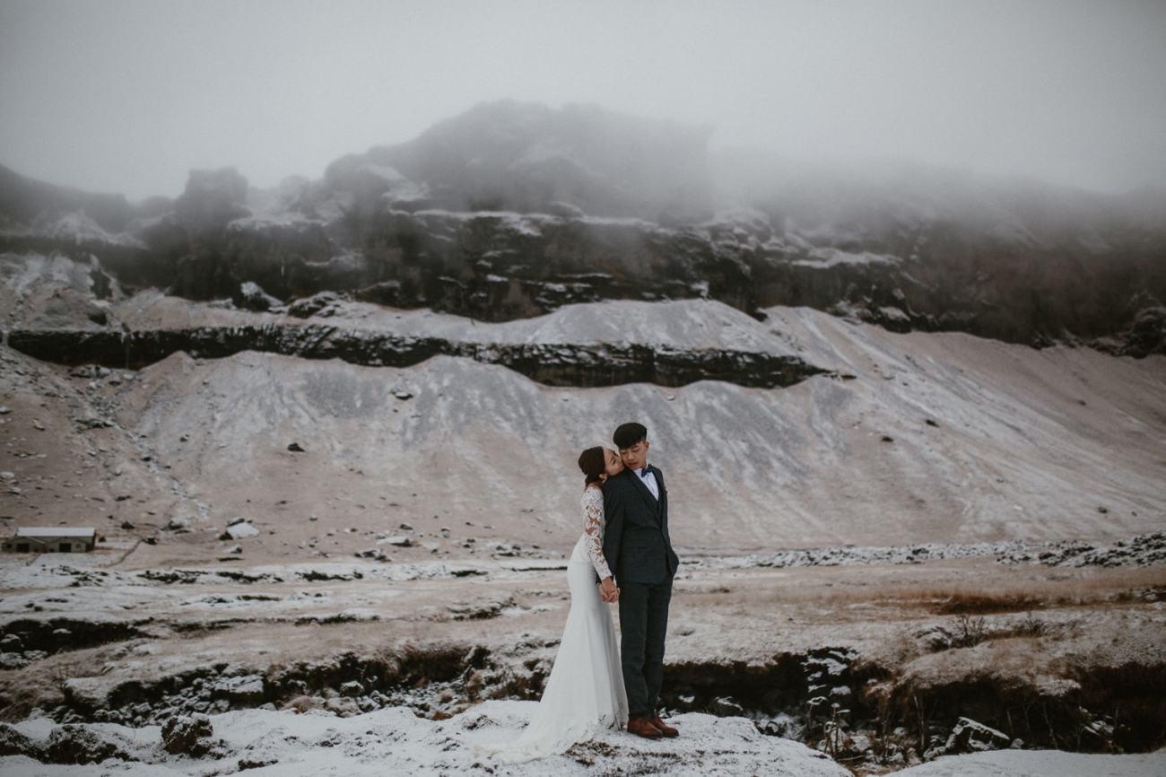 winter wedding in iceland