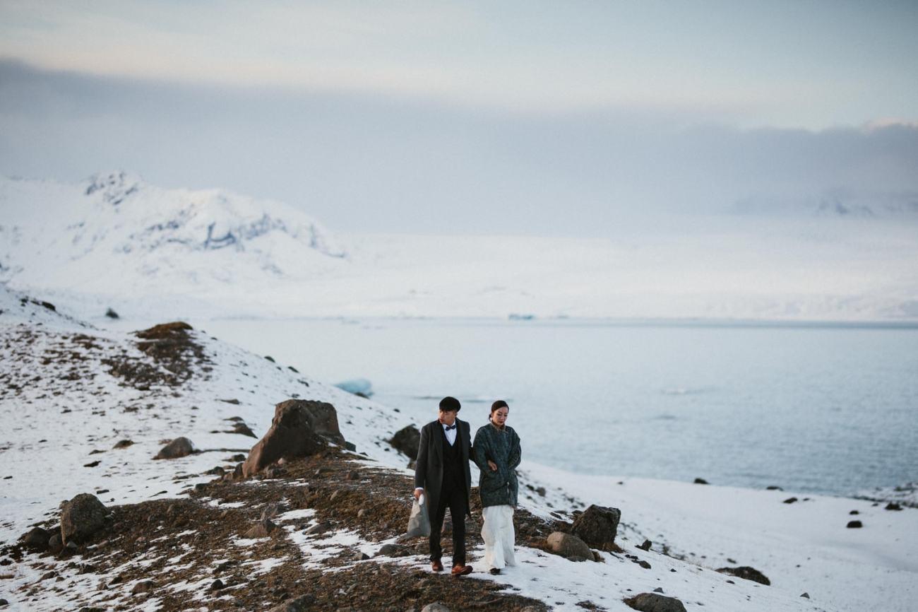 elopement winter iceland
