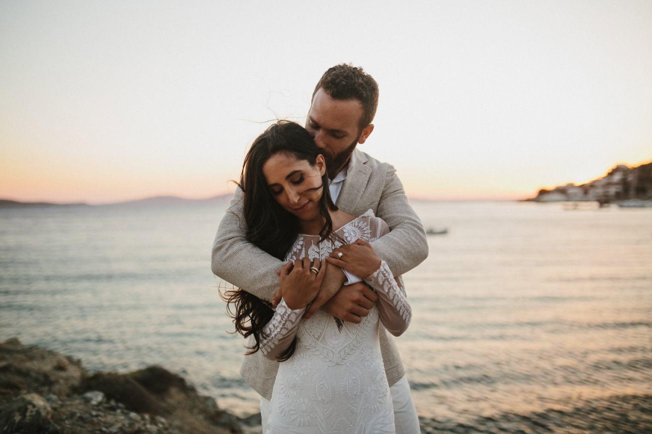 Wedding in Mykonos, Greece at Hippie fish