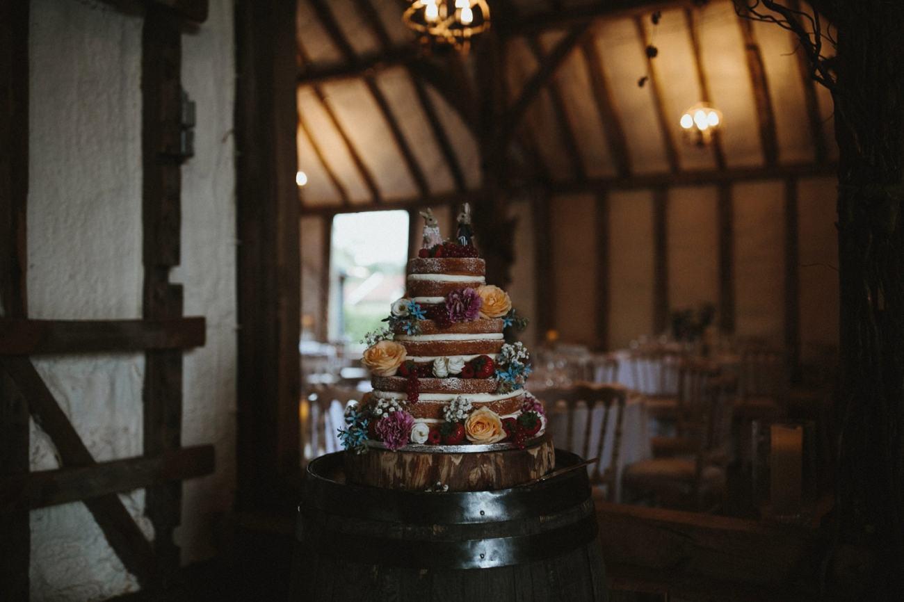 Naked wedding cake idea