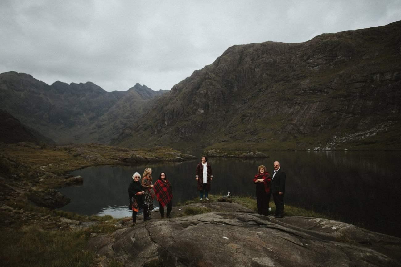 Intimate wedding ceremony at Loch Coruisk