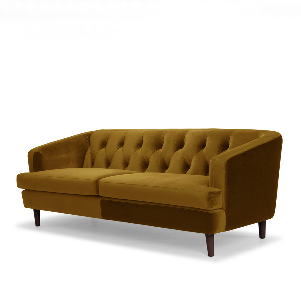 2 seater sofa new zealand deep leather sofas baxter mustard velvet | ash road