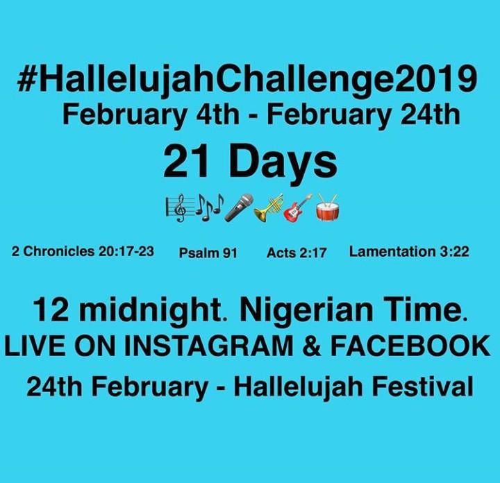 #HALLELUJAHCHALLENGE2019