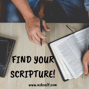 FIND YOUR SCRIPTURE
