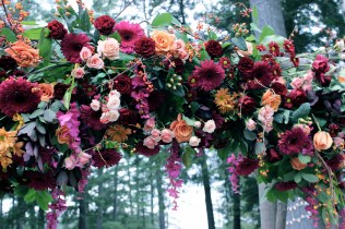 Berry Hued Fall Floral Arch