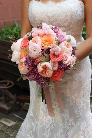 Soft and Pretty Vintage Inspired Bridal Bouquet - Berkeley Church