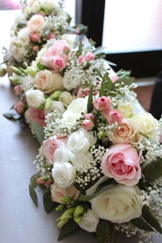 Rose, Lisianthis, Baby's Breath and Greenery Bouquets