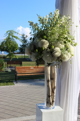 White and Green Ceremony Flowers - Bronte Harbor