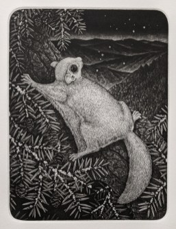 """copper engraving with aquatint, 6"""" x 8"""", 2020"""