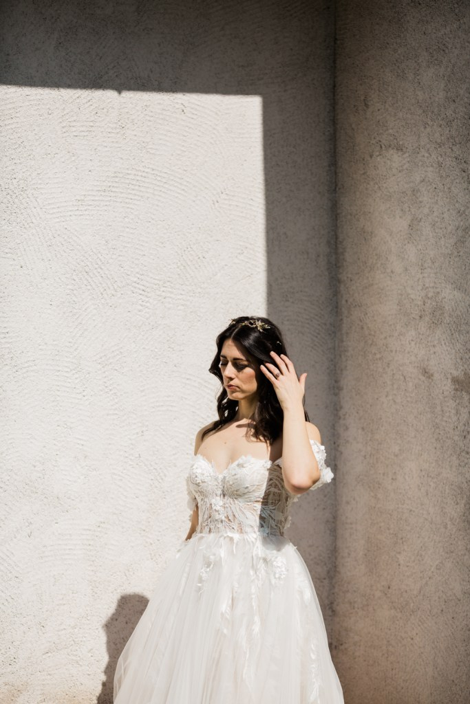 A modern-day Juliet by Riki Dalal--a perfect wedding dress.
