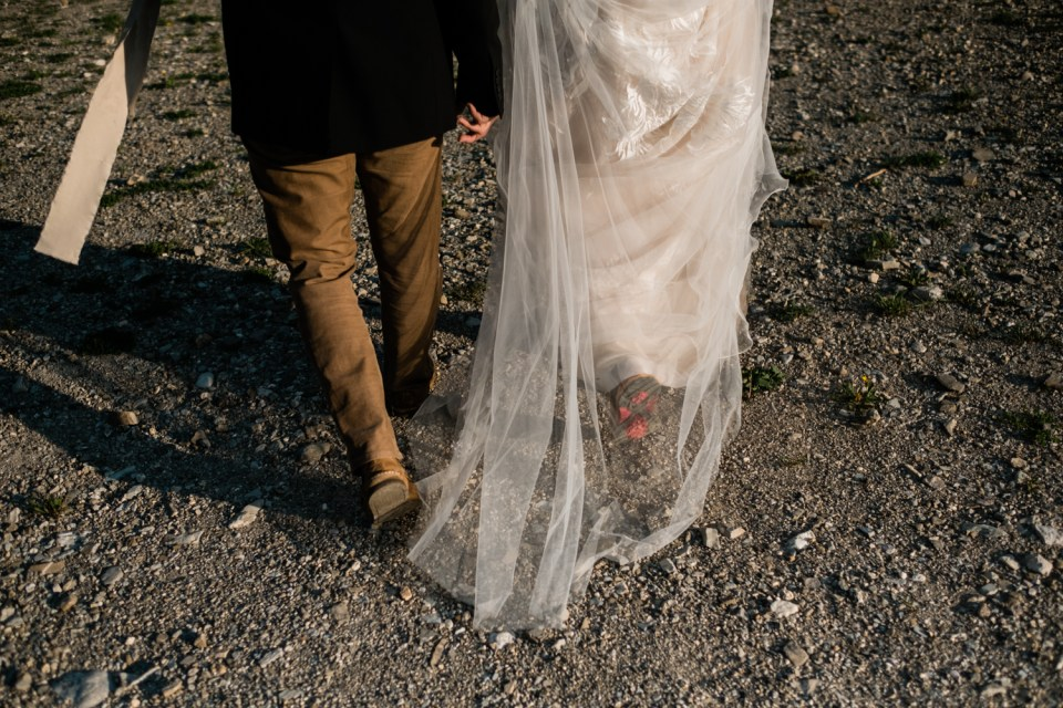 Wear your hiking boots for your adventure elopement--it just fits!