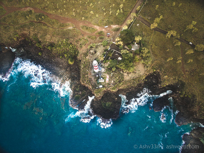 Drone Mauritius - Albion - Pointe Aux Caves Lighthouse
