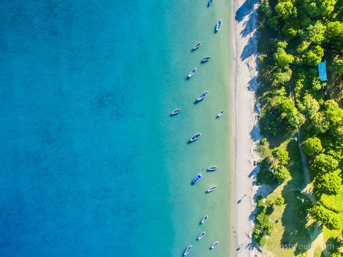 Drone Mauritius - Bain Des Dames Beach