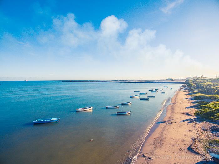 Drone Mauritius - Bain Des Dames Fishermen Boats