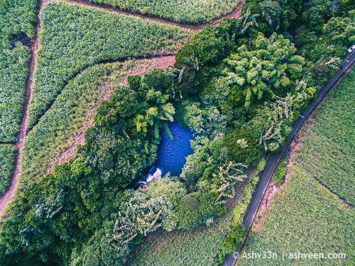 Drone Mauritius - Eau Bleue Waterfall Cluny