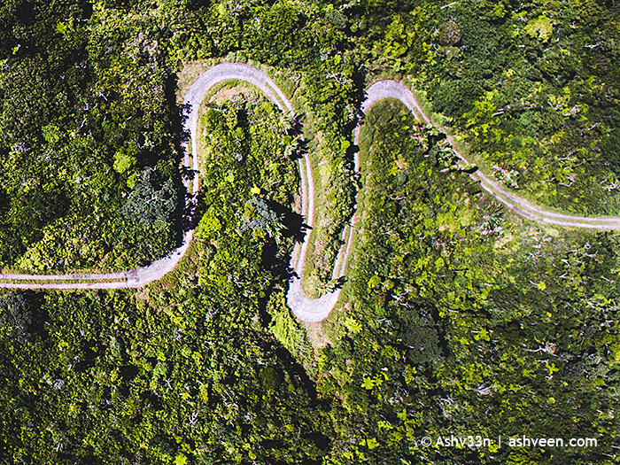 Drone Mauritius - Meandering Road Plaine Champagne