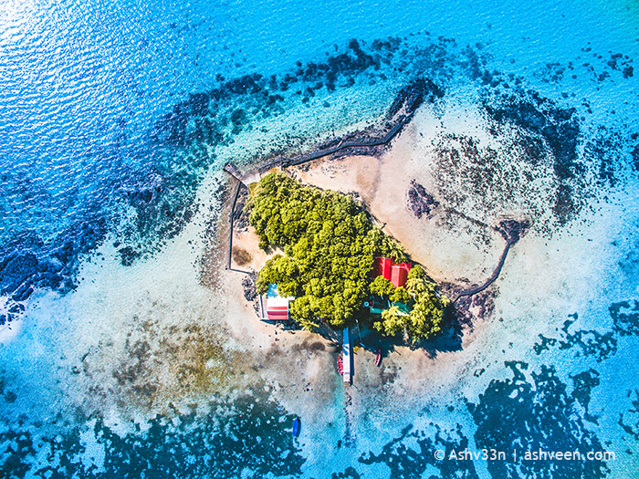 Drone Mauritius - Mouchoir Rouge Island Mahebourg