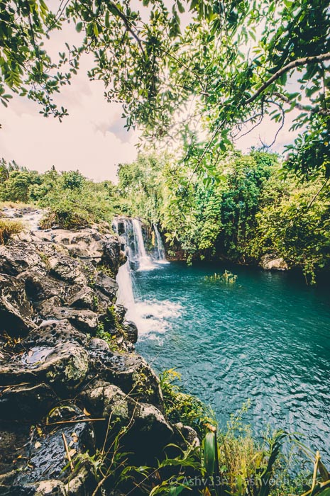 Eau Bleue Mauritius - Waterfall 1