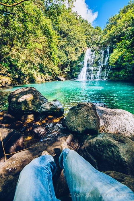 Eau Bleue Mauritius-Waterfall 4 Relaxing