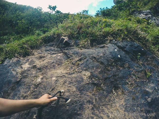 Hiking Pieter Both Mountain Mauritius - Serious climb