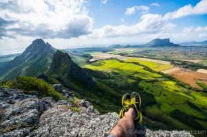 Hiking Trois Mamelles - Crossed Feet Posing