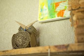 Lux Belle Mare Mauritius Junk Art Owl